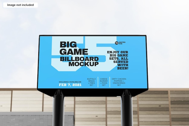 Modello di cartellone pubblicitario