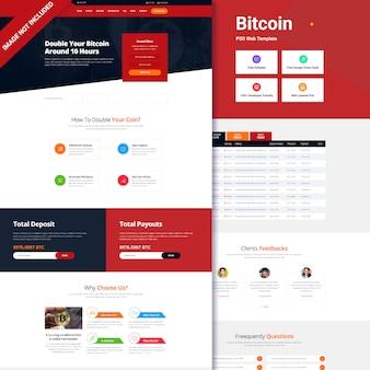 Interfaccia utente del sito web token bitcoin