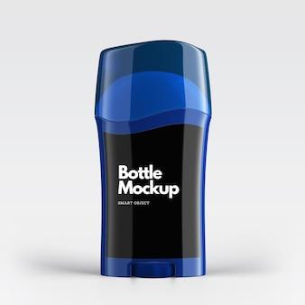 Bottiglie nere cosmetico mockup design