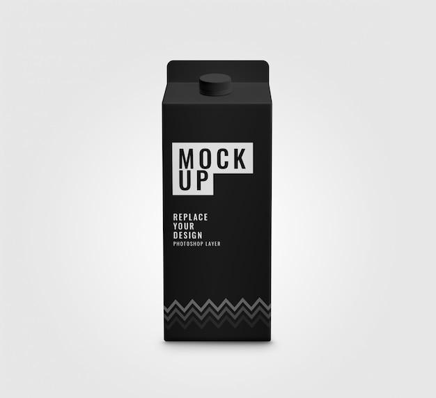 Mockup di scatola nera
