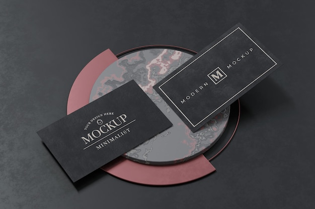 Design mockup biglietto da visita nero in rendering 3d