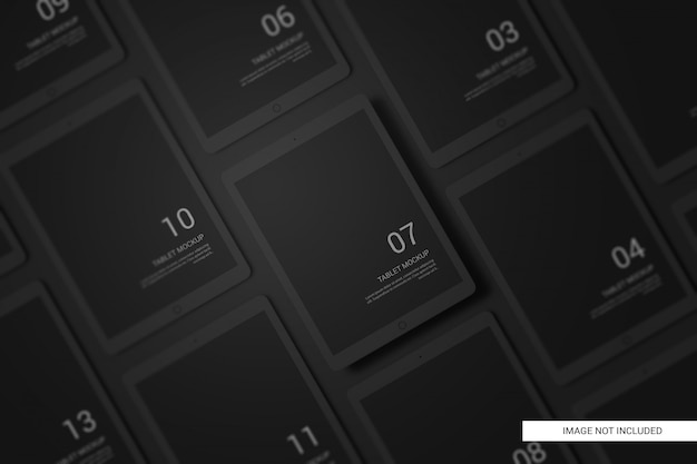 Mockup per tablet black clay devices