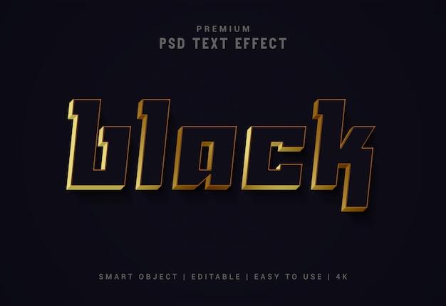 Generatore di effetti di testo modificabile nero