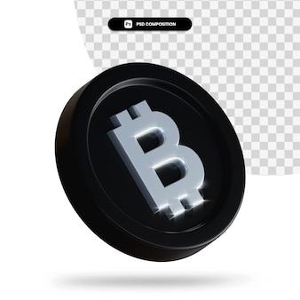 Moneta di cambio nera 3d rendering isolato