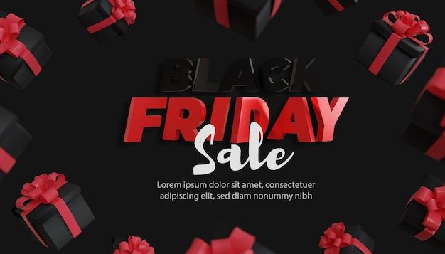 Modello di banner promozione vendita black fiday