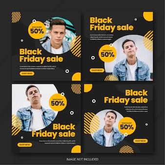 Il modello di bundle post instagram della campagna del black friday