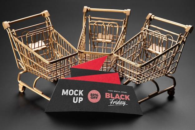 Concetto di venerdì nero con mock-up