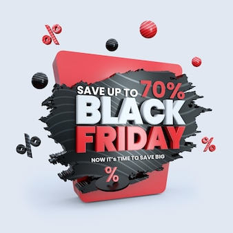 Black friday sconto vendita social media post template design