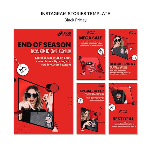 Storie di instagram del venerdì nero