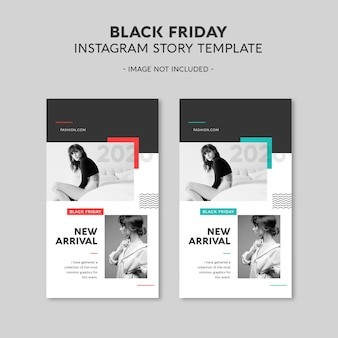 Modello di storia di instagram del black friday