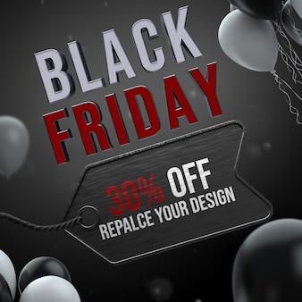 Design mockup venerdì nero