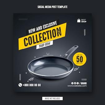 Collezione di prodotti del black friday post sui social media e modello di banner pubblicitario di instagram