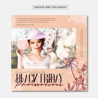 Modello di post instagram promozione venerdì nero