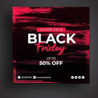 Modello di banner di social media di vendita venerdì nero