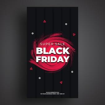 Modello di banner di social media di vendita del black friday