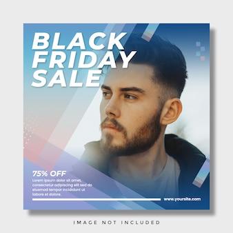 Post di instagram dei social media di vendita del black friday
