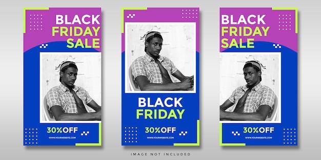 Banner di storie di instagram di social media di vendita venerdì nero