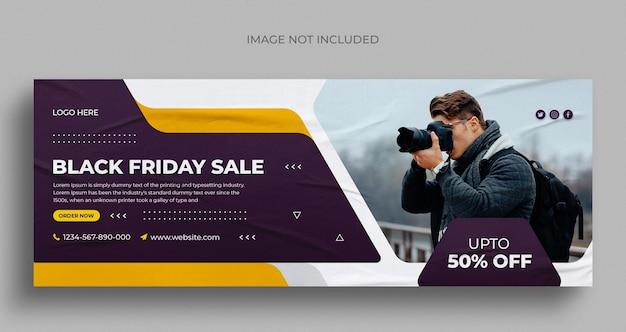 Black friday vendita social media post instagram post banner web o modello di copertina facebook