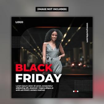 Modello di post sui social media in vendita venerdì nero