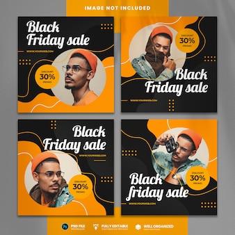 Modello di social media in vendita del black friday