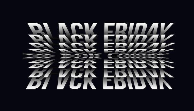 Modello di disegno di effetto testo vendita venerdì nero