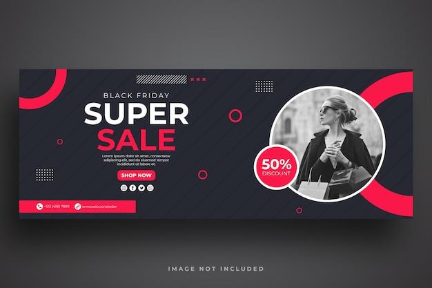 Modello di banner web vendita venerdì nero