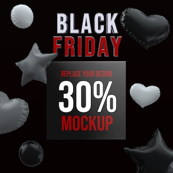 Black friday socail media square mockup design