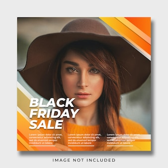 Modello di banner per social media del black friday