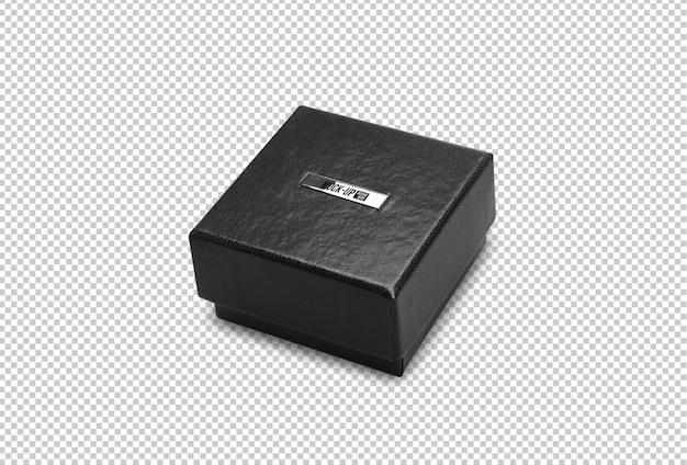 Modello di mockup scatola regalo nero per il vostro disegno