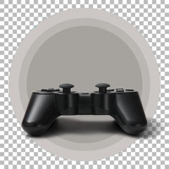 Joystick nero su sfondo trasparente.
