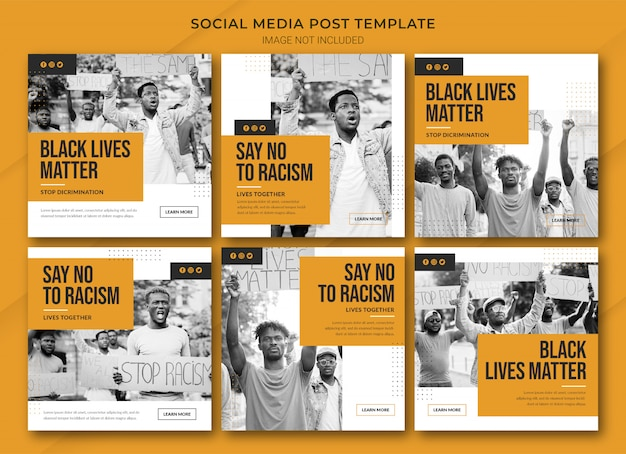 Modello di bundle post instagram black lives matter Psd Premium