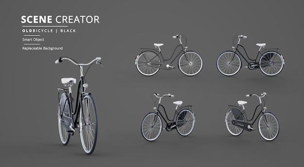 Creatore di scene di modello di bicicletta vecchia nera