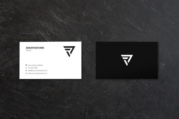 Nero rustico due businesscard mockup