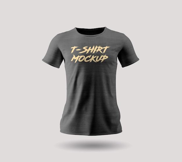 Design mockup sul lato anteriore della maglietta nera