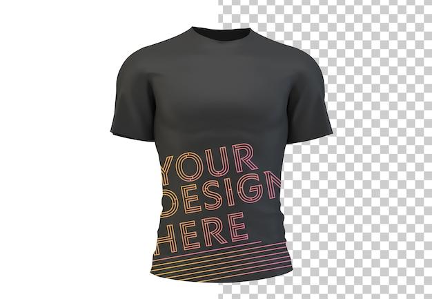 Maglietta nera isolata mock up