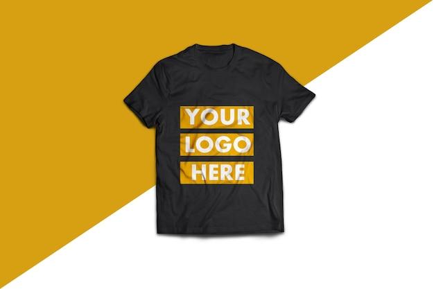 Mockup di t-shirt nera