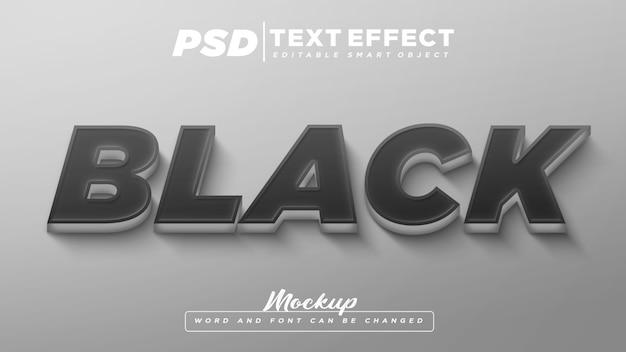 Mockup di testo modificabile con effetto testo nero