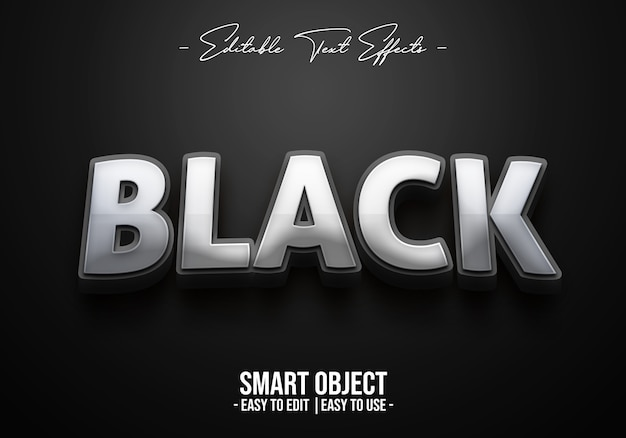 Black-text-style-effect