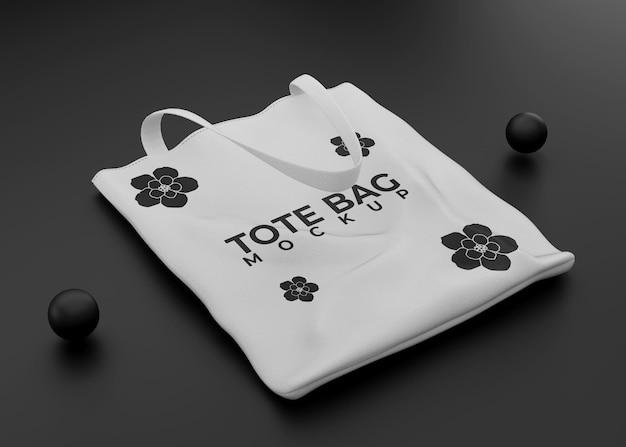 Modello di borsa tote nera
