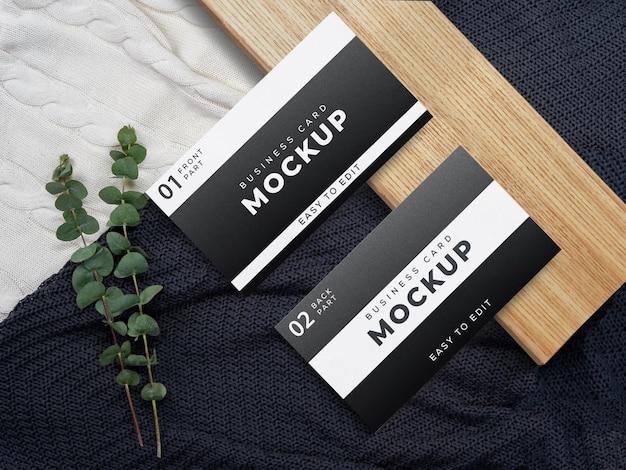 Design mockup biglietto da visita in bianco e nero