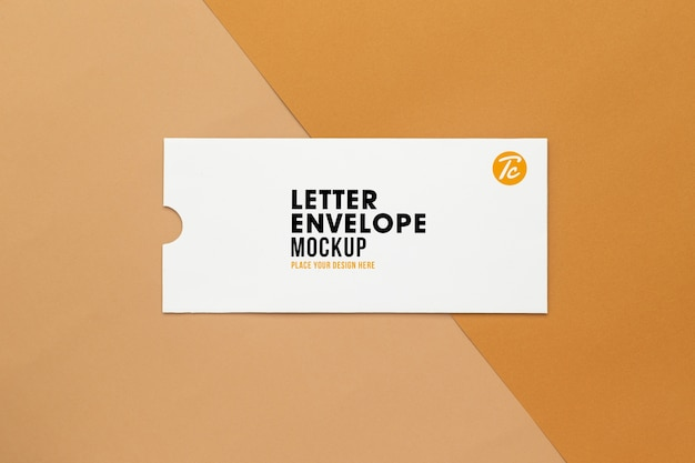Mockup di busta lettera vuota