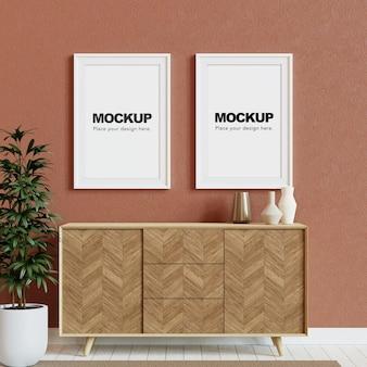 Mockup di cornici per foto in bianco rendering 3d