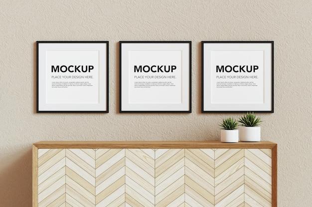 Mockup di cornici per foto in bianco