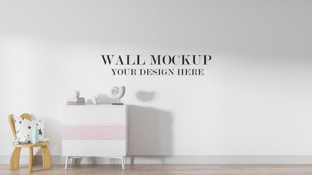 Modello di muro bianco per le tue trame