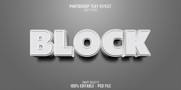 Blocca il design del modello di effetto stile testo 3d