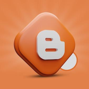 Blogger icona 3d