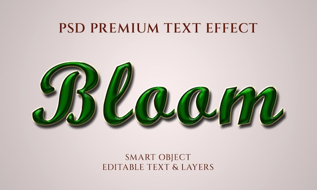 Design effetto testo bloom