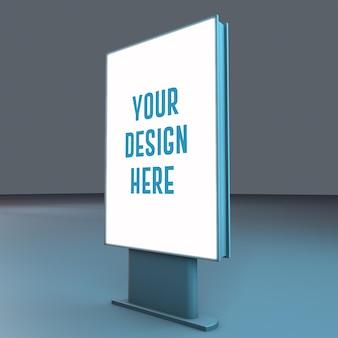 Rendering di progettazione di mockup di lavagna blu Psd Premium