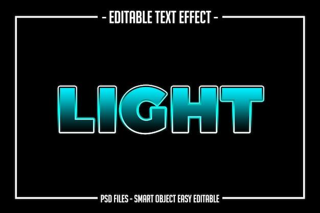 Effetto carattere modificabile in stile testo lightning blu
