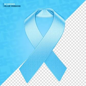 Rendering 3d dell'etichetta del nastro di novembre blu per la composizione